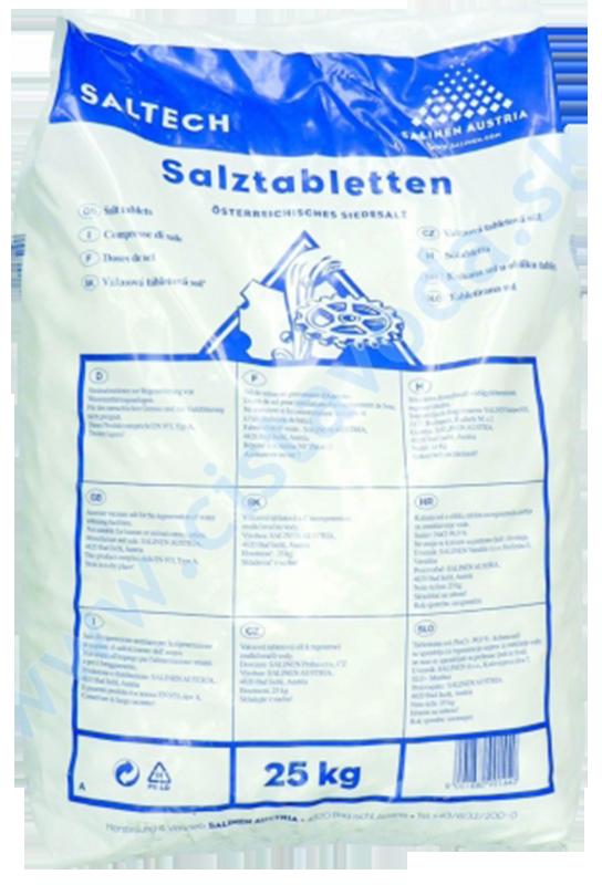 Tabletovaná soľ na regeneráciu (25 kg)